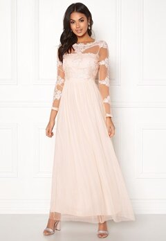 VILA Georgious Maxi Dress Peach Blush Bubbleroom.fi