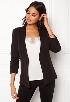 VILA Her 3/4 New Blazer Black Bubbleroom.fi