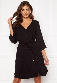 VILA Jamille 3/4 Dress Black Bubbleroom.fi