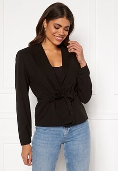 VILA Julianas L/S Belt Blazer Black Bubbleroom.fi