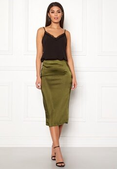 VILA Julie Skirt Dark Olive Bubbleroom.fi