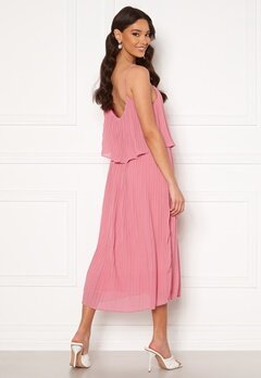 VILA Katelyn S/L Pleated Midi Dress Wild Rose bubbleroom.fi