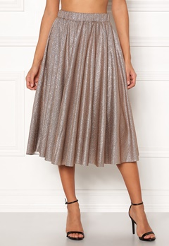 VILA Lena Midi Skirt Dusty Camel Bubbleroom.fi