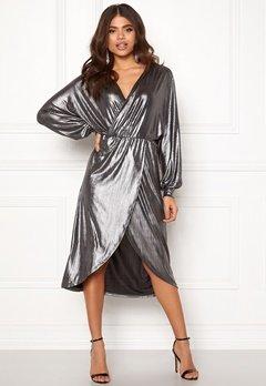 VILA Limma Midi Dress Silver Bubbleroom.fi