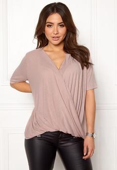 VILA Lolla S/S T-shirt/PB Adobe Rose Bubbleroom.fi