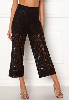VILA Luas Cropped Lace Pants Black Bubbleroom.fi