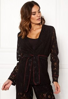 VILA Luas Lace Blazer Black Bubbleroom.fi