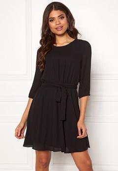 VILA Lucy 3/4 Sleeve Dress Black Bubbleroom.fi