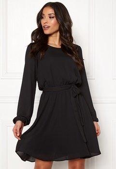 VILA Lucy L/S Dress Black Bubbleroom.fi