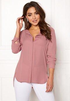 VILA Lucy L/S Shirt Ash Rose Bubbleroom.fi