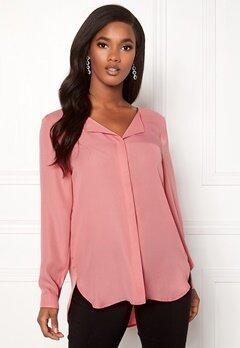 VILA Lucy L/S Shirt Brandied Apricot Bubbleroom.fi