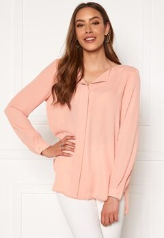 VILA Lucy L/S Shirt Misty Rose Bubbleroom.fi