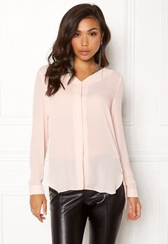 VILA Lucy L/S Shirt Peach Blush Bubbleroom.fi