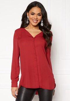 VILA Lucy L/S Shirt Scarlet Sage Bubbleroom.fi