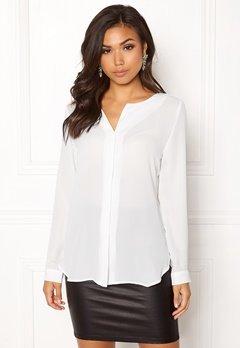 VILA Lucy L/S Shirt White Bubbleroom.fi
