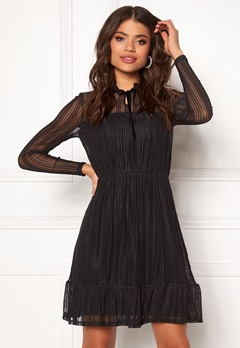 VILA Manja L/S Dress Black Bubbleroom.fi