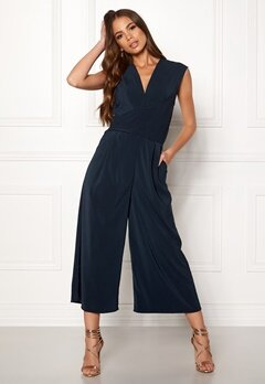VILA Melis S/L Drapped Jumpsuit Total Eclipse Bubbleroom.fi