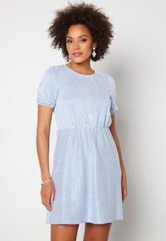 VILA Milac O-Neck S/S Dress Cashmere Blue Stripe Bubbleroom.fi