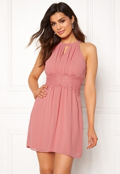VILA Milina Halterneck Dress Brandied Apricot Bubbleroom.fi