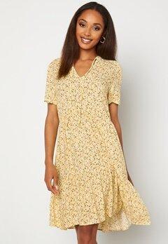 VILA Mina Tullan S/S Dress Sunshine Bubbleroom.fi