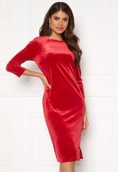 VILA Minny Velvet Dress Scarlet Sage Bubbleroom.fi