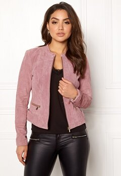 VILA Miss Suede Jacket Ash Rose Bubbleroom.fi