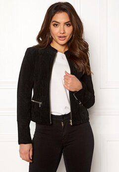VILA Miss Suede Jacket Black Bubbleroom.fi
