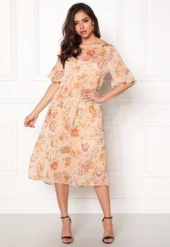 VILA Mouna S/S Medi Dress Peach Blush Bubbleroom.fi