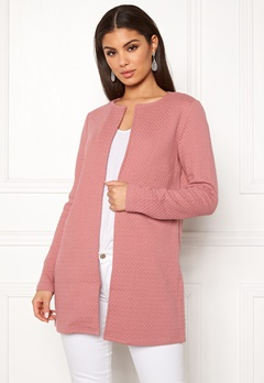 VILA Naja New Long Jacket Ash Rose Bubbleroom.fi