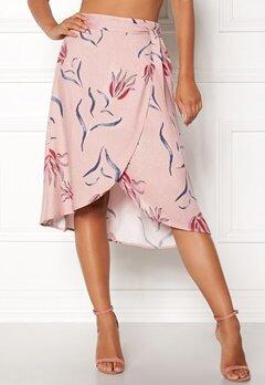 VILA Nandi Wrap Midi Skirt Adobe Rose Bubbleroom.fi