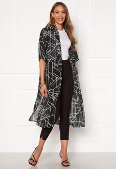 VILA Nema 3/4 Aop Cover Up Black Aop Bubbleroom.fi
