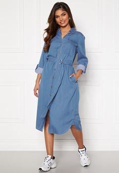 VILA Oakes Midi Shirt Dress Medium Blue Denim Bubbleroom.fi