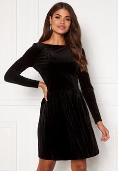 VILA Oelle Boatneck 3/4 Sleeve Dress Black Bubbleroom.fi