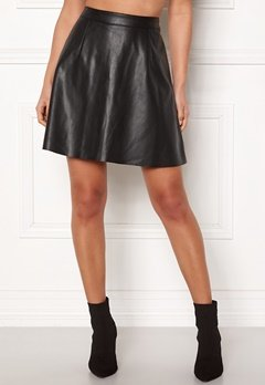 VILA Pen Skater Skirt Black Bubbleroom.fi