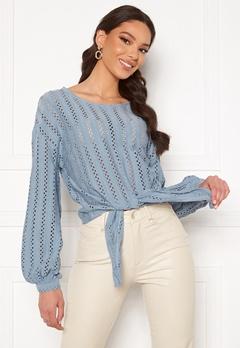 VILA Piline L/S T-Shirt Ashley Blue Bubbleroom.fi