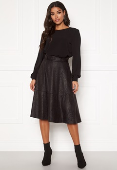 VILA Pines Snakey Midi Skirt Black Bubbleroom.fi