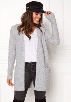 VILA Place Knit Cardigan Light grey Melange Bubbleroom.fi