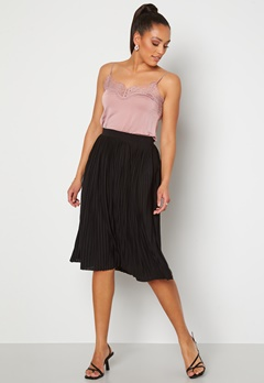 VILA Pliss Midi Skirt Black bubbleroom.fi