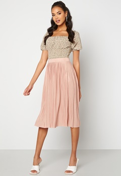 VILA Pliss Midi Skirt Misty Rose Bubbleroom.fi
