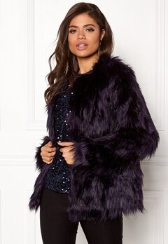 VILA Poppy Faux Fur Jacket Astral Aura Bubbleroom.fi