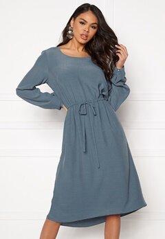 VILA Primera Medi L/S Dress China Blue Bubbleroom.fi