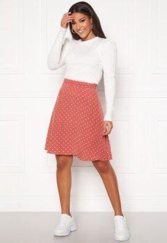 VILA Primera Skirt Dusty Cedar Bubbleroom.fi