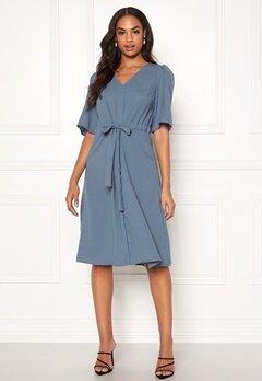 VILA Rissa S/S Dress China Blue Bubbleroom.fi