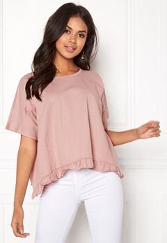 VILA Rose S/S T-shirt Adobe Rose Bubbleroom.fi