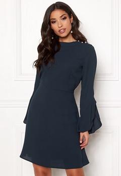 VILA Sarina L/S Pearl Dress Navy Blazer Bubbleroom.fi