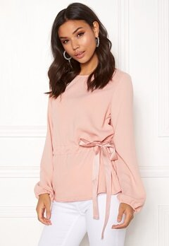VILA Sarina L/S Top Rose Smoke Bubbleroom.fi