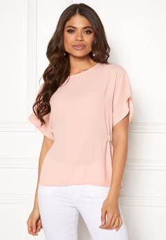 VILA Sarina S/S Top Rose Smoke Bubbleroom.fi