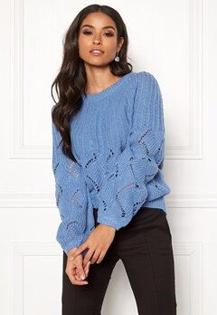 5240c8c3 VILA Satira Knit O-Neck Top Ultramarine Bubbleroom.fi