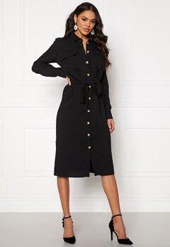 VILA Selina L/S Shirt Dress Black Bubbleroom.fi