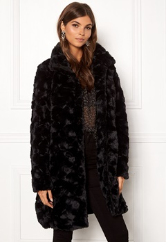 VILA Seria Coat Black Bubbleroom.fi